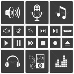 Sound Icons #GraphicRiver Sound icons. Music icon set. Vector illustration. Editable EPS, Render in JPG format and layered PSD Created: 22April13 GraphicsFilesIncluded: PhotoshopPSD #JPGImage #VectorEPS Layered: Yes MinimumAdobeCSVersion: CS Tags: audio #audioequipment #button #design #eject #equalizer #icon #interface #mic #microphone #mixer #monogram #multimedia #music #next #pause #pictogram #play #player #radio #record #set #sign #sound #soundrecording #speaker #symbol #vect...