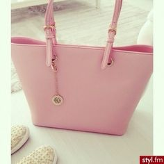 Image via We Heart It https://weheartit.com/entry/175476428 #bag #beauty #fashion #makeup #pink #pretty #pastelpink #ootd