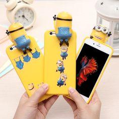 Cute 3D cartoon Disney Minions milo stitch soft case cover for iphone 6s plus 5S #UnbrandedGeneric