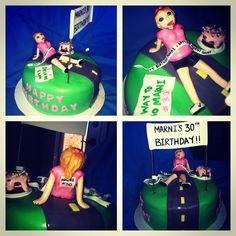 Birthday Cake for a marathon runner!! @TheCakeryBakery