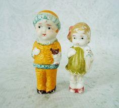 Two Vintage Frozen Charlotte Dolls Two Japan by SwirlingOrange11