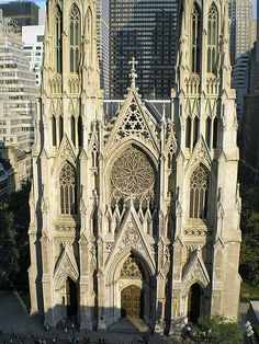 NEW YORK--New York City. Manhattan. St. Paul's Cathedral, 555 5th Avenue and Madison Avenue. This was one of my favorite places to visit in NYC. The external and internal architecture at St. Patricks was breathtaking.