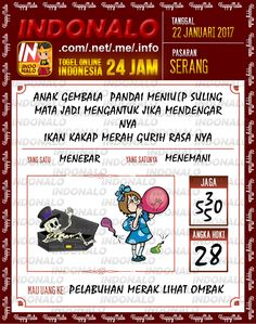 Nomer Mimpi 2D Togel Wap Online Live Draw 4D Indonalo Serang 22 Januari 2017
