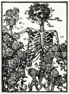 Death with Roses, from Line: An Art Study, written and illustrated by Edmund Joseph Sullivan, London, 1922. ~Source: archive.org