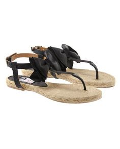 Flat Espadrille Sandals with Bows by Lanvin