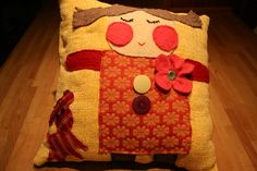 Smiling Girl Pillow