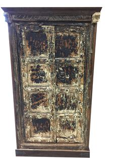 Antique Indian Cabinet Reclaimed Teak Doors India by MOGULGALLERY