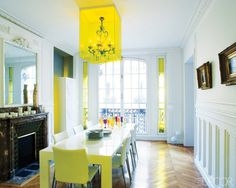 Chandy encased in yellow lucite