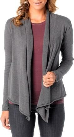 I like cardigan sweaters for layering, but they need to be tight fitting as I have a small frame. No busy patterns.