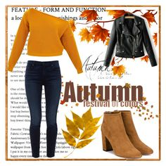 """Autumn"" by bmehmedovic ❤ liked on Polyvore featuring Jen7 and Aquazzura"