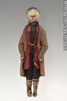 1760-1770 Wooden peg doll at the McCord Museum, Montreal - Looking at how this doll is dressed, I think it was a child's toy rather than a fashion pandora.  It's dressed in a decidedly everyday manner.