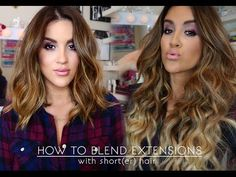 How To | Wear Extensions With Short(er) Hair - YouTube