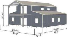 Steel Metal Custom Home Building Prefab Shell Kit