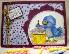 Birthday card, Doodle Pantry digi stamps