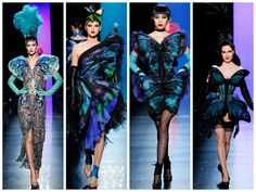 Haute Couture: Jean Paul Gaultier spring/summer 2014 www.fashiononmymind.com Blue butterfly dresses