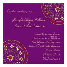Indian Wedding Invitations Wedding Invitation Gold & Jewels Indian Inspired