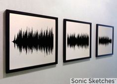 Any song as wall art. (Three-panel version) by SonicSketches on Etsy https://www.etsy.com/listing/208674349/any-song-as-wall-art-three-panel-version