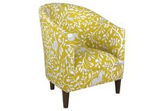 Ashlee Barrel Chair, Yellow Dandelion