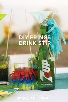 DIY drink stirrers