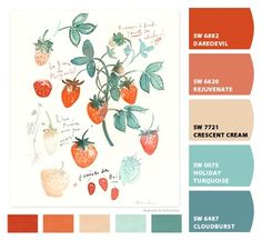 Paint colors from Chip It! by Sherwin-Williams Turquoise Paint Colors, Turquoise Painting, Wall Colors, House Colors, Color Combinations, Color Schemes, Paint Color Palettes, Paint Colors For Home, Color Swatches