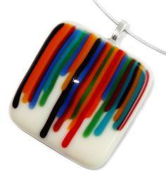 Glashanger met kleurrijke strepen glas!