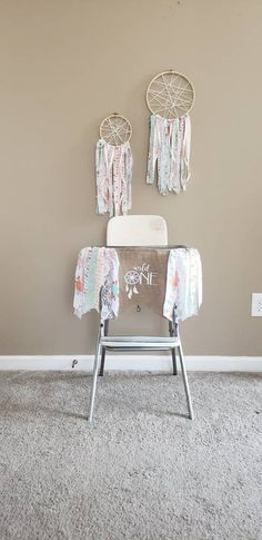 Available on Etsy, handmade fabric Wild One highchair banner and boho dream catchers. Sold separately, available on Etsy. Dream Catcher Boho, Dream Catchers, Fabric Tutu, Birthday Highchair, First Birthday Banners, Wall Banner, Party Banners, High Chair Banner, Dream Catcher