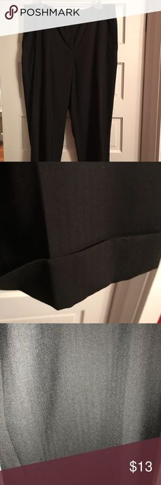 Jones & Co black trousers Jones & Co black cuffed trousers with black pinstripe; it's black on black. Jones & Co Pants Trousers