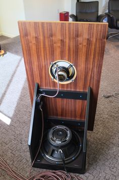 Lowther PM6A+Eminence Alpha 15A. Nelson Pass Open Baffle.