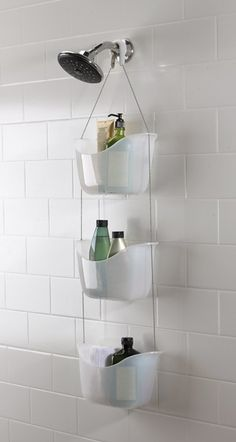 Toys and Interiors | Umbra Bask White Hanging Bathroom Shower Tidy