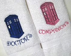 Charmant Embroidered Doctor Who Hand Towels By AugustAveThe Perfect Way To Dry Your  Tears As You Watch David Frozen Olaf Bathroom Decal By  LovelyvinylsDeviantArt .