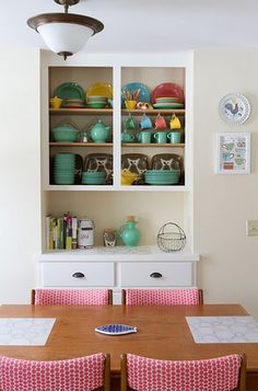 Love me some fiesta ware! But does it go with my mid century mod kitchen? Hmmm...-yes please...want all fiesta