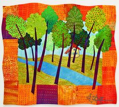 Fanciful Stitches, Colorful Quilts by C Publishing, Laura Wasilowski, via Flickr