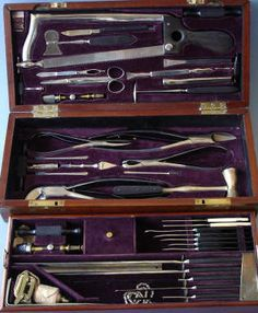 Hernstein, N.Y., Civil War, U.S.Army Hosp. Dept. three tier surgical operating set, 1865