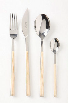 Sushi Queen Flatware - contemporary - flatware - by Anthropologie Kitchen Utensils, Kitchen Tools, Kitchen Gadgets, Kitchen Dining, Modern Flatware, Silver Cutlery, Flatware Set, Contemporary Style, Kitchens