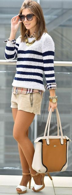 Stripes And Plaid Streetstyle