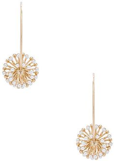 5cd7ef622 Anton Heunis Pearl Sputnik Flower Hoops Anton Heunis, Gold Plated Earrings,  Cute Earrings,