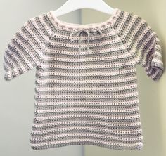 Instant download - Crochet PATTERN (pdf file) - Raglan Baby Sweater on Etsy, 3,72€
