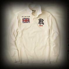 Ralph Lauren メンズ ポロシャツ ラルフローレンラグビー Great Britain Solid Rugby ポロシャツ-アバクロ 通販 ショップ #ITShop