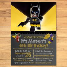 """Thanks for checking out my Lego Batman Invitation for your Lego Batman Party! This Lego Batman Invitation is the perfect addition to your Lego Batman Birthday Party! ⚒ Instructions - Please send me the following information so I may complete your order. Simply place it in the """"Message to the Seller"""" box when you check out. ~ Name of Child ~ Age of Child ~ Date of Party ~ Time of Party ~ Location and Address of Party ~ RSVP Information ~ Any other changes you'd li..."""