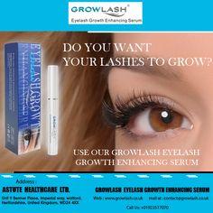 Use #Growlash #Eyelash Growth Enhancing #Serum to Grow your #Lashes.