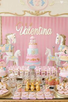 Searching for a dreamy party? This Enchanted Carousel Birthday Party at Kara's Party Ideas is filled with inspiration galore! Carousel Birthday Parties, Carnival Birthday, Unicorn Birthday Parties, First Birthday Parties, Birthday Decorations, Birthday Party Themes, First Birthdays, Birthday Ideas, Carnival Parties