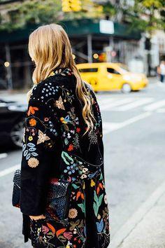 Whisper by Sara | sobretudo com embroideries | @whisperbysara || Harley Viera-Newton via Vogue