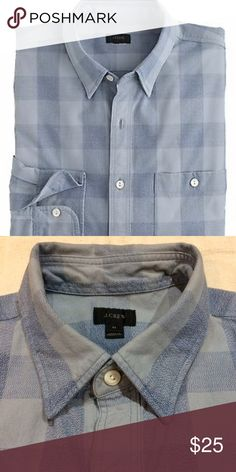 J. Crew Jaspé Cotton shirt J.Crew Jaspe Cotton shirt in a large gingham pattern. In EUC, only worn and washed 2x! J. Crew Shirts Casual Button Down Shirts
