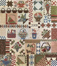 PEACE & PLENTY BOM, MODA University Mystery Quilt kit on Ebay. 2014 working on this one! It'll be a while.