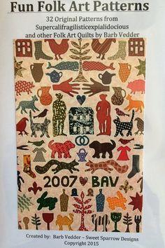 Fun Folk Art Patterns by FunWithBarb on Etsy