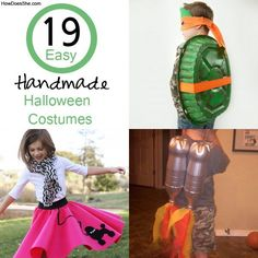 19 Easy Homemade Halloween Costumes. DIY Halloween costume ideas for kids and adults! Easy to make and budget friendly