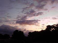 Las nubes que acompañan al amanecer.
