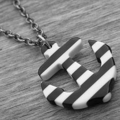 Black & White Striped Anchor Necklace by Ink & Roses 13 Anchor Jewelry, Anchor Necklace, Arrow Necklace, Pin Up Girl Tattoo, Girl Tattoos, Accessories Shop, Fashion Accessories, Rockabilly Pin Up, Girls Necklaces