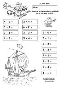 Pracovné listy z matematiky - prváci - Nasedeticky.sk Maths, English, Words, First Grade, English Language, Horse