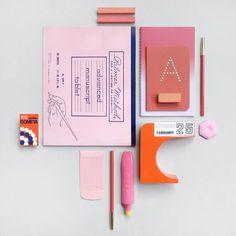 Pink & orange.